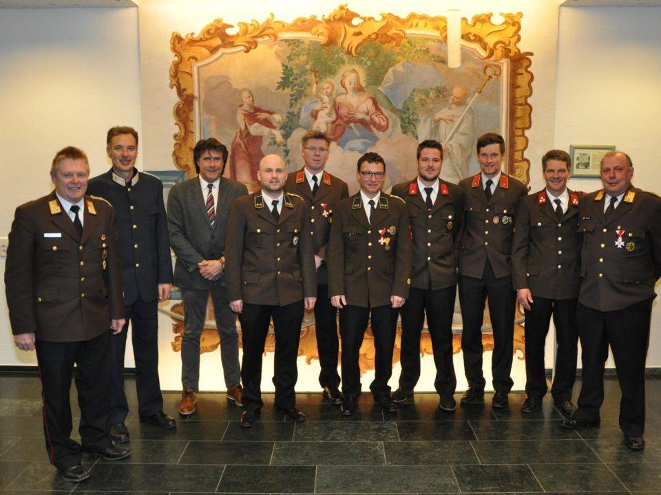 Jahreshauptversammlung 2018 Kommando Feuewehr Roppen